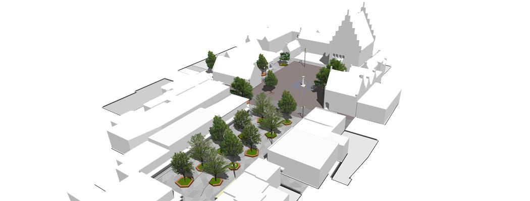 Markt en Raadhuisplein Waalwijk